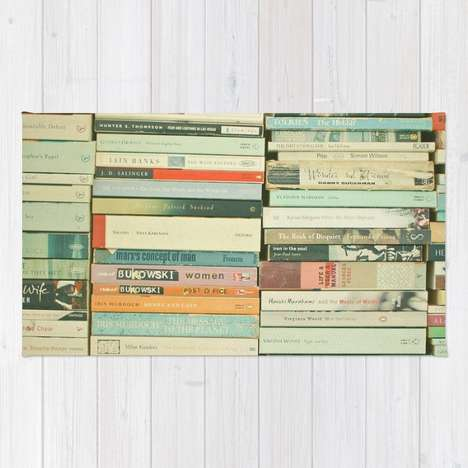 Cozy Literary Rugs - The 'Bookworm' Rug is Covered by the Spines of Famous Novels