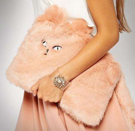 Plush Feline Clutches - New Look's Novelty Cat Purse is Both Fun and Fashion-Forward