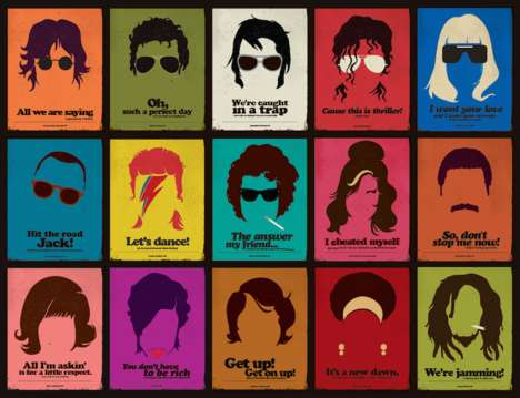 Minimalist Celebrity Posters - These Simple Graphics Take After the Appearance of Popular Singers