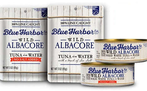 Sustainable Tuna Products - Blue Harbor Fish Co. is Selling Sustainably Caught Wild Albacore Tuna