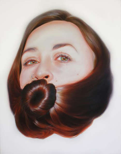 Conceptual Hair-Wrapped Portraits - Roos van der Vliet's Hyper-Realistic Art Puts Focus on Tresses