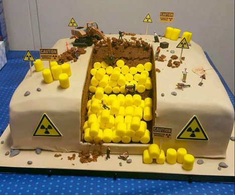 Radioactive Waste Cakes - This Birthday Treat Turns Contaminated Waste Management into a Dessert