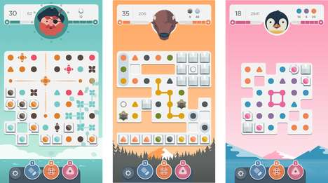 Meditative Puzzle Platforms - The Dots & Co. App Provides Relaxation Through Tranquil Brainteasers