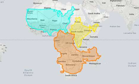 Accurately Scaled Maps - The Digital 'True Size Map' Depicts the Real Magnitude of Countries