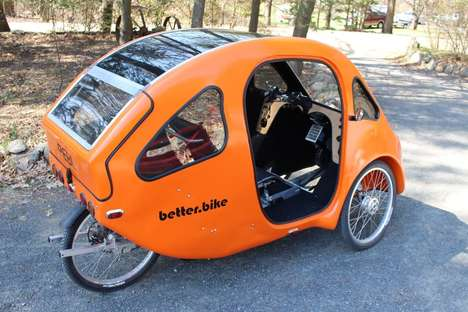 Eco-Minded Velomobiles - The PEBL Velomobile Blends Throttle and Pedaling Power