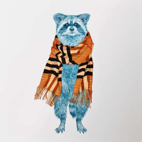 Couture Raccoon Portraits - The 'Couture Bandits' Series Catches Raccoons and Their Stolen Items