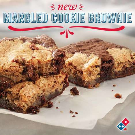 Shareable Brownie Desserts - Domino's Marbled Cookie Brownie is a Gooey Dessert That's Made to Share
