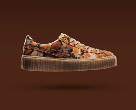 Platform Camouflage Sneakers