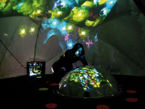 Interactive Sensory Installations - Scenocosme's Digital Art Installations Use Many Expressive Modes
