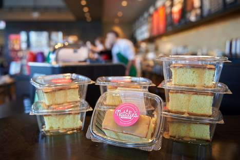 Coffee Shop Caramel Cakes - Starbucks Teamed Up with Natalie's Cakes & More to Offer New Baked Goods