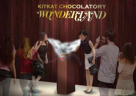 Nitrogen-Cooled Chocolateries - Kit Kat is Launching a Liquid Nitrogen-Chilled Chocolate Store