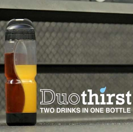 Two-In-One Sports Bottles - Duothirst is the First Reusable Bottle That Can Hold Two Drinks At Once