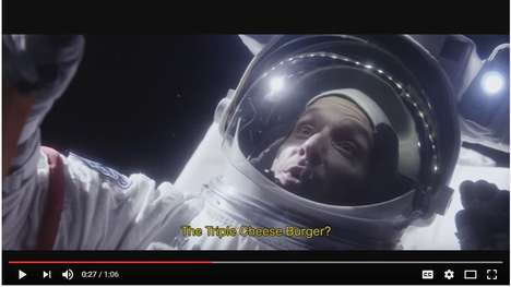 Fast Food Parody Ads - Mcdonald's 'GRAVICHEESE Commercial Takes the 'Triple Cheeseburger' into Space