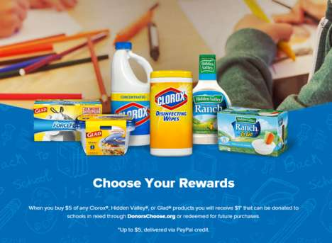 Streamlined School Supply Drives - Clorox's Charitable Drive Aims to Support School Supply Shopping