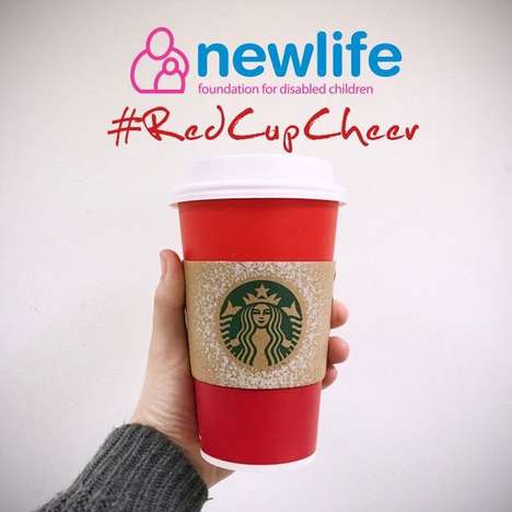 Competitive Charitable Campaigns - Starbucks' #RedCupCheer Program Lets Charities Compete For Grants