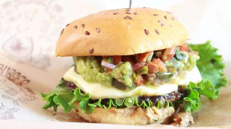 Upscale Fast Food Burgers - This Organic Burger Comes With a Spicy Mexican Topping