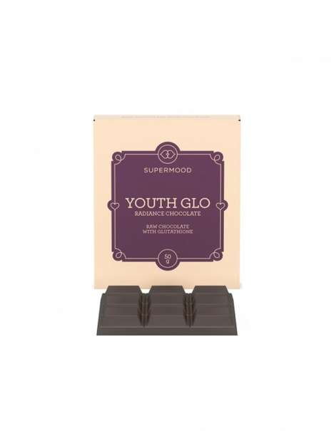 Youthful Beauty Chocolates - Supermood's Chocolate for Beauty is Enhanced with Glutathione