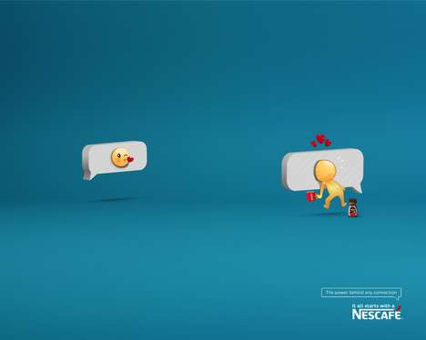 Caffeinated Emoji Ads - This NESCAFE Ad Offers a Look Behind a Popular Emoji