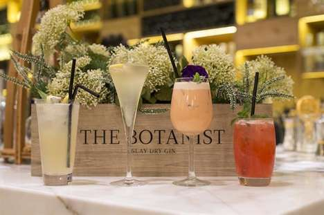 Collaborative Botanical Cocktails - Botanist Gin is Serving Wild Cocktails at Selfridges Restaurants