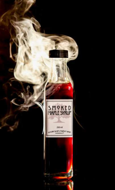 Smoky Maple Syrups - Sugar Bob's Finest Kind Infuses Its Maple Syrup with Hardwood Smoke