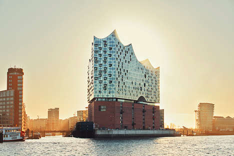 Reflective Concert Hallls - The 'Elbphilharmonie' Has Over 1,000 Curved Glass Panels