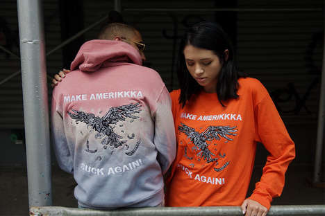 Politically Charged Apparel - 'Ev Bravado' Makes a Statement with Its 'Make America Suck Again' Line