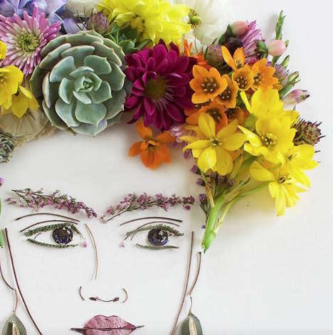 Blossoming Beauty Portraits - These Artsy Flower Prints Were Created with Natural Elements