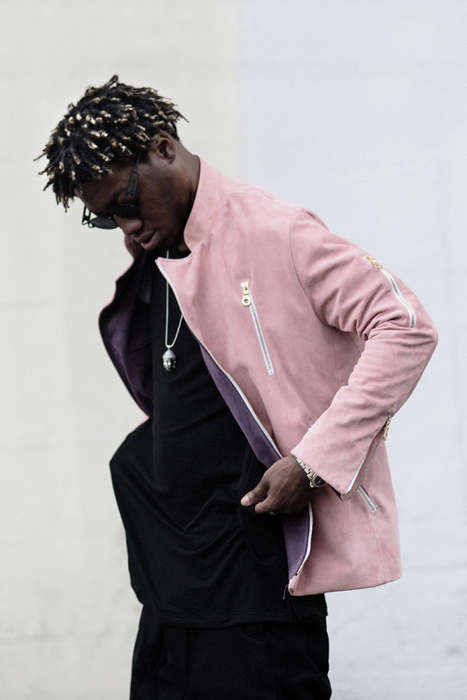 Rapper-Modeled Menswear - OG Maco Featured in OPEN NINE FIVE's Modern and Simple Clothing Editorial