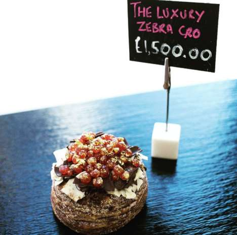 Luxury Champagne Doughnuts - The 'Luxury Zebra Cro' is the World's Most Extravagant Doughnut