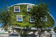 Grassy Futuristic Homes