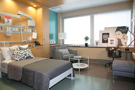Branded Hospital Rooms - IKEA Canada Outfitted Mount Sinai with Stylish Hospital Furniture