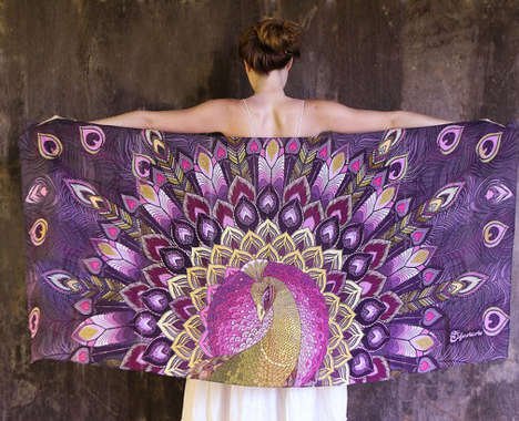 Intricate Winged Scarves