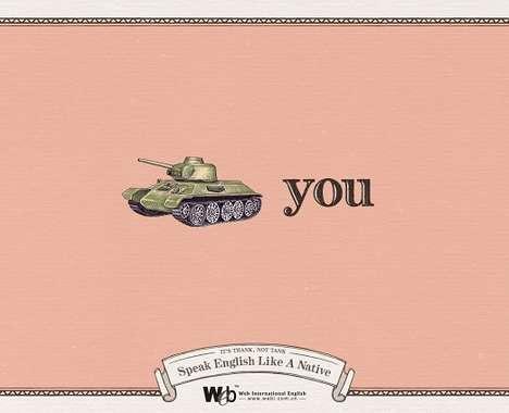 Humorous Language Ads
