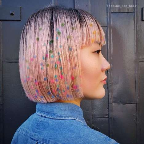 Technicolor Hair Stencils - Janine Ker is Using Stencils to Create Graffiti-Inspired Hairstyles