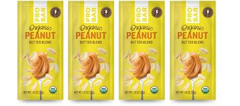 Caffeinated Peanut Butter Packs - The PROBAR Organic Peanut Butter Blend is Infused with Yerba Matte