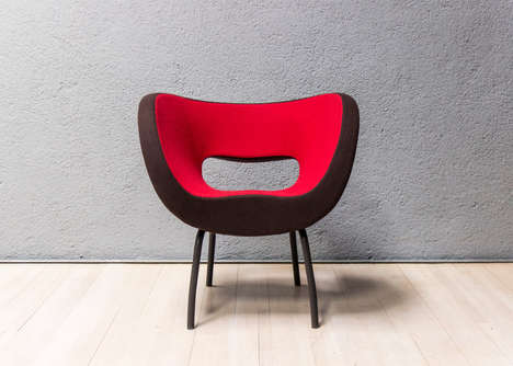 Cut-Out Modern Chairs - Ron Arad's Chair Design Pays Tribute to Moretti's Curvaceous Architecture
