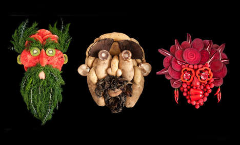 Food-Made Portraits - These Edible Portraits Highlight Humanity's Diversity