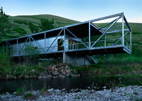 Narrow Flood-Proof Houses - The 'Flood Plain House' is Built Right Above a Snake-Infested River
