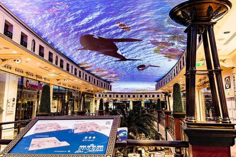 Ceiling Projection Installations - The Das Schloss Mall Enables Consumers to Shop Underwater