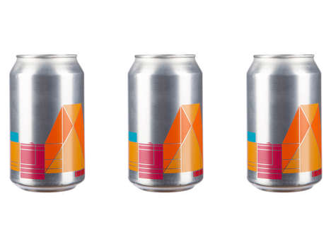 Geometric Beer Branding - Peter Saville Created a Modern Packaging Design for 'Switch House' Beer