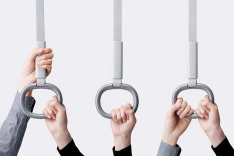 Hygienic Subway Straps - These Hanging Straps for Subways Ensure Personal Space