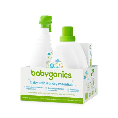 Infant-Friendly Detergents - Babyganics' Baby-Safe Laundry Essentials are Free from Harsh Chemicals