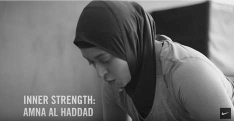 Inspiring Hijabi Athlete Ads - The New Nike Training Ad Stars Female Weightlifter Amna Al Haddad