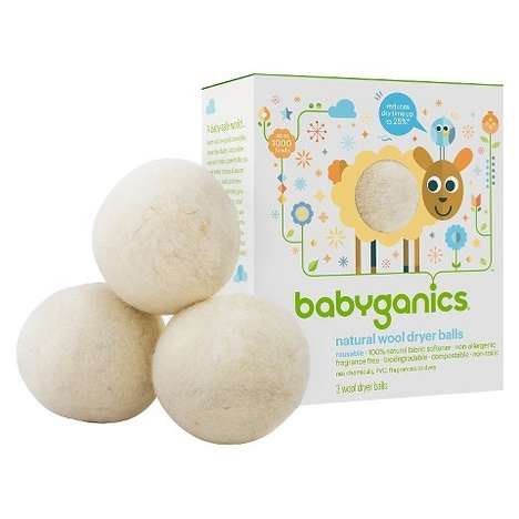 Baby-Safe Dryer Balls - Babygenics' Organic and Toxin-Free Dryer Balls Keep Fabrics Soft and Gentle