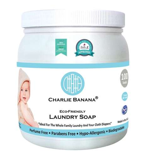 Coconut Oil-Based Laundry Soaps - Charlie Banana's Laundry Soap is Made for Washing Cloth Diapers