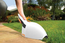 The Brushmaster Both Clips and Collects Yard Waste for Easy Clean-Up