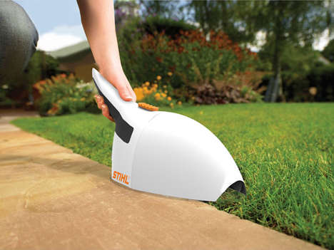 Vacuuming Grass Trimmers - The Brushmaster Both Clips and Collects Yard Waste for Easy Clean-Up