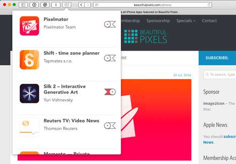 Bookmarking App Platforms - Lookmark Saves iTunes Content For a Later Download Date