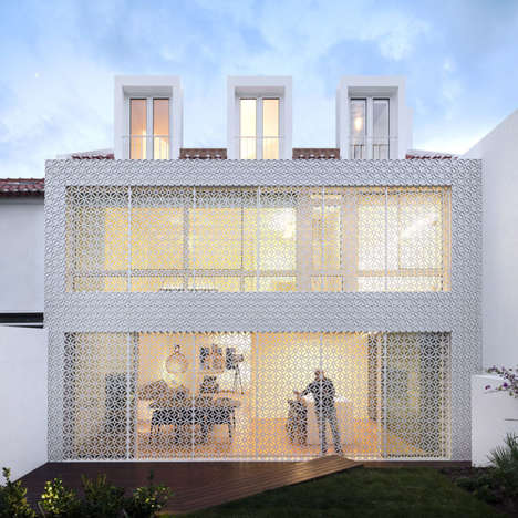 Protectively Screened Abodes - This Mod Home Has a Lattice Exterior For Added Sunlight and Security