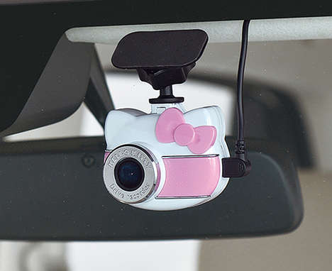 Anime Car Cameras - The Hello Kitty Drive Recorder Keeps Tabs on The Road for Drivers